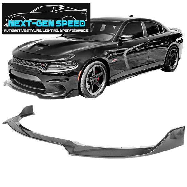 Gloss Black SRT Splitter Lip | 2015 – 2021 Dodge Charger