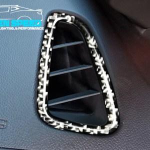 Real Carbon Fiber Dash Vent Covers | 2016-2020 Camaro