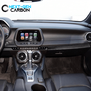 Real Carbon Fiber Lower Dashboard Overlay | 2016-2021 Camaro