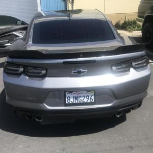 2019+ Camaro SS Wide Wicker Bill w/ Camera Hole (1SS & 2SS Spoiler Only) | 2019-2020 Camaro