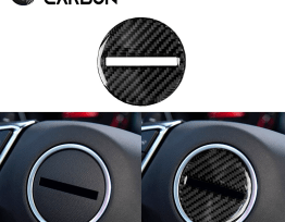 Real Carbon Fiber Center Steering Cover | 2016-2020 Camaro