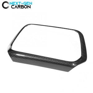 Real Carbon Fiber Radio Trim Surround Cover | 2016-2021 Chevy Camaro