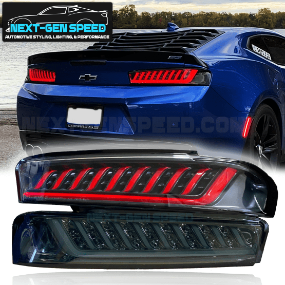 SPEC-D Smoked Sequential Tail Lights | 2016-18 Camaro