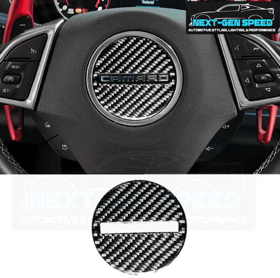 Next-Gen Carbon Fiber Center Steering Cover | 2016-2020 Camaro