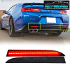 LED Smoked Rear Bumper Reflectors | 2008-2009 Pontiac G8