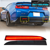 LED Smoked Rear Bumper Reflectors | 2016-2020 Camaro