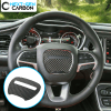 Real Carbon Fiber Center Steering Wheel Cover | 2015-2020 Dodge Challenger/Charger