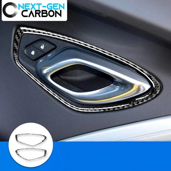 Carbon Fiber Interior Door Handle Cover Kit | 2016-2020 Camaro