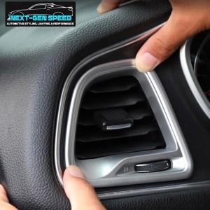 Colored/Carbon Fiber Dashboard Vent Trim Kit | 2015-2020 Dodge Challenger
