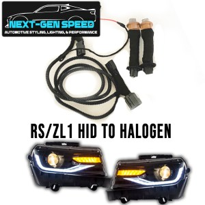 2010-2015 Camaro HID to Halogen Headlight Harness Kit