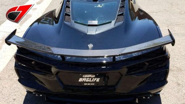 Carbon Fiber High Wing Spoiler | 2020 – 2021 Chevy Corvette C8 – C7Carbon