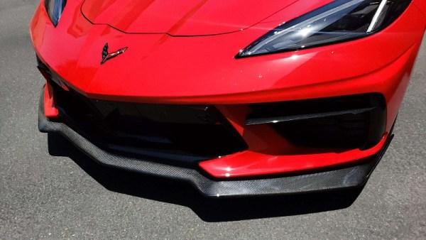 C7Carbon 5VM Style Front Splitter (Carbon Flash Metallic)   2020+ Chevy C8 Corvette