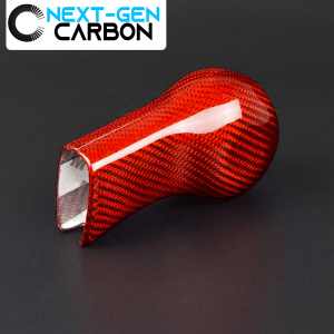 Red Carbon Fiber Shifter Knob Handle Cover | 2010-2015 Chevy Camaro