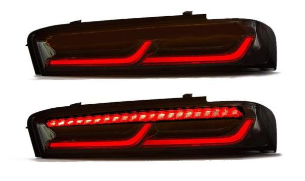 Smoked Sequential Tail Lights – Red Signal | 2016-18 Chevy Camaro