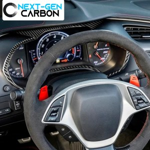 Real Carbon Fiber Speedometer Trim Cover Kit | 2014-2019 Chevy Corvette C7