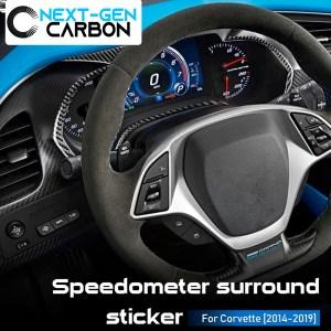 Real Carbon Fiber Speedometer Trim Cover Kit | 2014-2019 Chevy Corvette C7