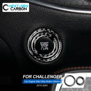 Carbon Fiber Push Start Trim Cover | 2015-2021 Dodge Challenger