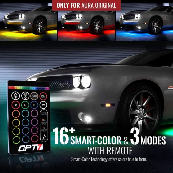 OPT 7 RGB LED Underglow Lighting Kit w/ Remote & Soundsync