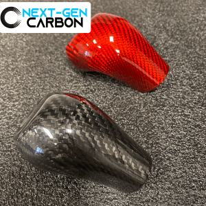 Red Carbon Fiber Shifter Knob Handle Cover | 2014-2019 Chevy Corvette C7