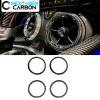 Carbon Fiber Air Vent Bezel Ring Covers | 2016-2021 Chevy Camaro
