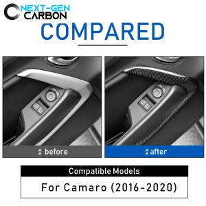 Carbon Fiber Door Trim Surround Cover | 2016 – 2021 Chevy Camaro