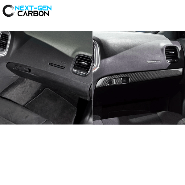 Carbon Fiber Lower Dash Glovebox Overlay | 2015-2021 Dodge Charger