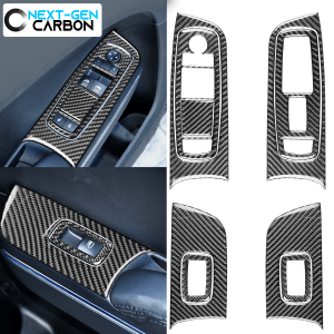Carbon Fiber Window Switch Panel Overlays | 2015-2021 Dodge Charger