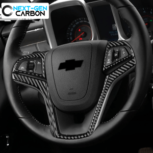 Carbon Fiber Steering Wheel Trim Cover Kit | 2013-15 Chevy Camaro