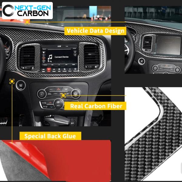 Carbon Fiber Dashboard Insert Overlay | 2015-2021 Dodge Charger
