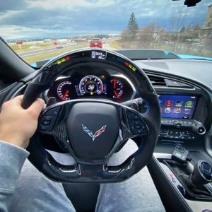 LED Carbon Fiber Steering Wheel | 2014-19 Chevy Corvette C7