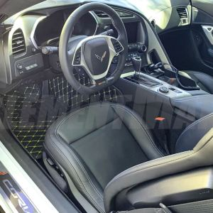 Corvette C7 Custom Artificial Leather Waterproof Floor Mat | ElementMat®- 2014-2019 Corvette