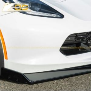 Corvette C7 Stage 2.5 ZR1 Conversion Extended Front Splitter – Carbon Flash