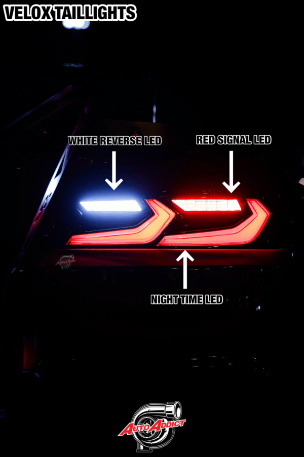 Velox LED Smoked Sequential Tail Lights | 2014-2015 Camaro – C8 Style