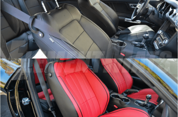 Artificial Leather Seat Covers | 2015-2021 Ford Mustang