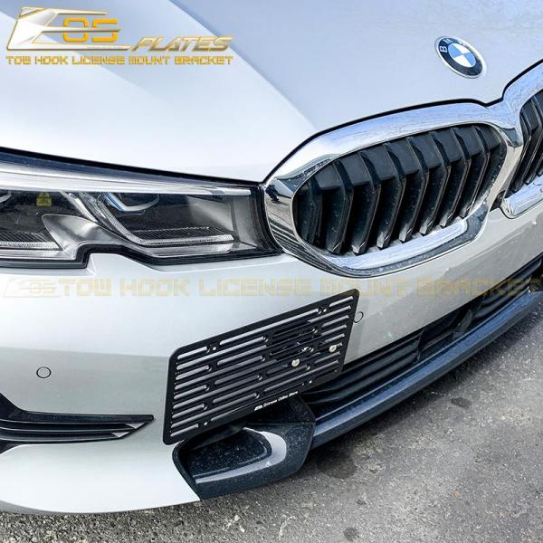 Tow Hook License Plate Mount Bracket Holder | 2019-Up BMW 3-Series G20