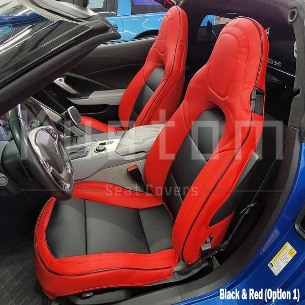 Two-Tone Leather Seat Covers   2014-19 C7 Corvette