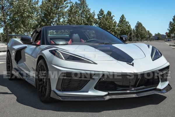 Carbon Fiber 5VM Front Splitter Lip (2 Piece)    2020 – 2021 C8 Corvette – EOS