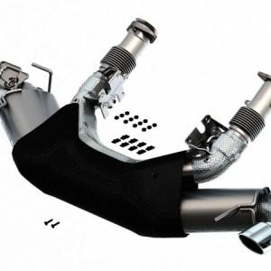 2020-2021 Chevrolet Corvette Stingray Cat-Back Exhaust System S-Type Carbon Fiber Tips