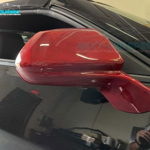 Red Carbon Fiber Mirror Covers   2016 – 2021 Chevy Camaro