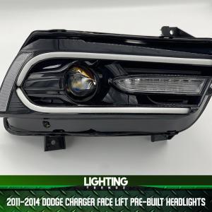 Face Lift Pre-Built Headlights   2011-14 Dodge Charger – Lighting Trendz
