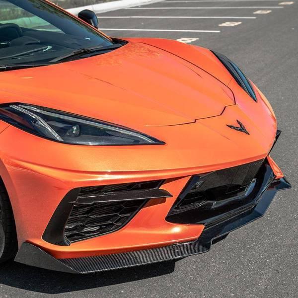 Carbon Fiber 5VM Style Front Splitter Lip    2020 – 2021 C8 Corvette