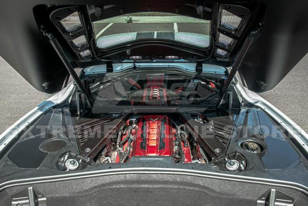 Carbon Fiber Engine Bay Trim Panel Overlay Covers   2020+ Chevy Corvette C8
