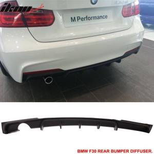 MT Rear Bumper Lip Diffuser With Single Outlet | 2012-18 BMW F30