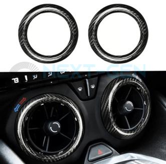 Carbon Fiber Air Vent Bezel Covers   2016 – 2021 Chevy Camaro