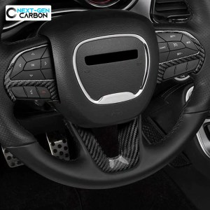 Carbon Fiber Steering Wheel Trim Cover Kit | 2015-2021 Dodge Challenger/Charger/Durango