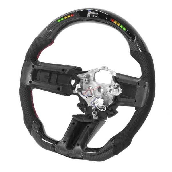 LED RPM Carbon Fiber Steering Wheel | 2010-14 Ford Mustang