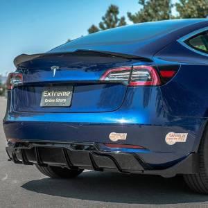 Gloss Black Rear Bumper Diffuser | 2017+ Tesla Model 3
