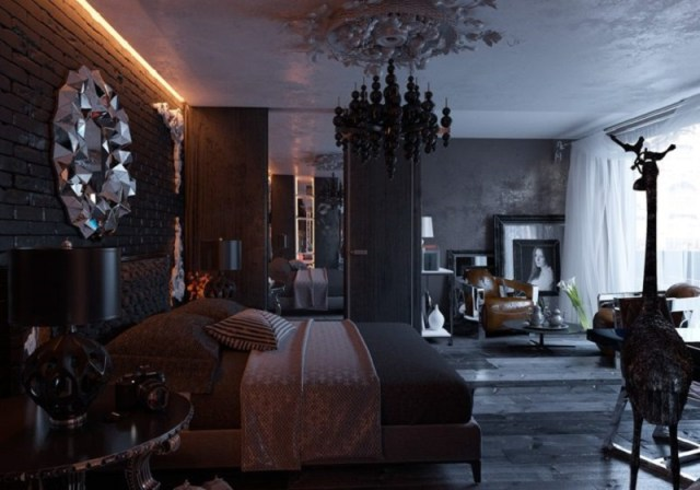 Unique Bedroom Decor Ideas: Modern Gothic Interior Design ...