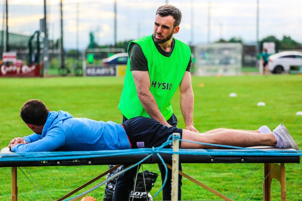 John Shanahan Physiotherapist, conducting Sports Physiotherapy at Cork Tag Rugby