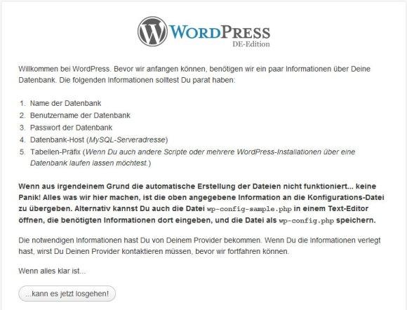 WordPress Installationsanleitung